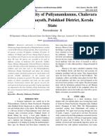 Floristic Diversity of Puliyanamkunnu, Chalavara Grama Panchayath, Palakkad District, Kerala State