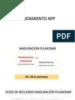 TRATAMIENTO APP (ACTIM PARTUS) + TOLEDANO