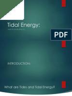 Physics Tidal Energy
