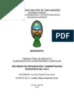 Monografia CEPIES, efrain chura acero