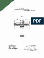 Pyromagneto Electric Generator (1890)Tesla Patent 428,057