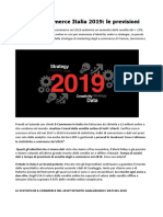 Dati E-commerce Italia 2019 aumento delle vendite del + 15%