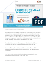 Java fundamentals introduction