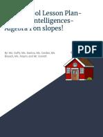 slope lesson plan- multiple intelligences