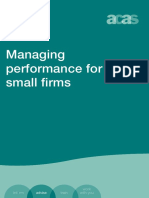 Managing Performance for Small Firms Accessible Version