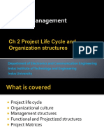 Project manaement Ch 2 Life Cycle and Organization