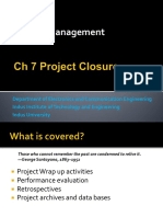 PM Ch 7 Project Closure