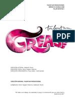 Grease Libreto Talentum Adap.