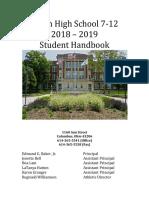 2018-2019 Student Handbook