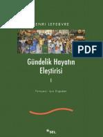 Henri Lefebvre - Gündelik Hayatın Eleştirisi I