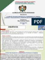 vigilancia sanitaria en LA SUBGERENCIA DE COMERCIO, LICENCIAS Y FISCALIZACIÓN DE LA MUNICIPALIDAD PROVINCIAL DE HUAMANGA