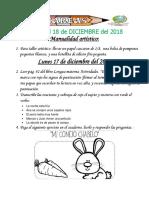 Tareas 1° Del 17 al 18 DICIEMBRE 2018