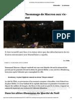 A Strasbourg, l'Hommage de Macron Aux Victimes de l'Attentat