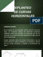 7. Replanteo de Curvas Horizontales