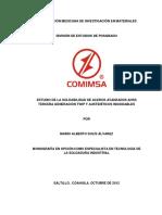 ESTUDIO DE LA SOLDABILIDAD DE ACEROS AVANZADOS AHSS TERCERA GENERACIÓN TWIP Y AUSTENÍTICOS INOXIDABLES