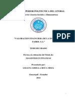 Valoracion Finaciera de La Fabril