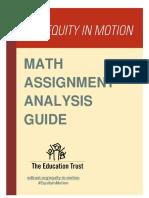 Math Assignment Analysis Guide.finaL 4 18