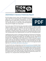 Election Protection Preliminary Report on the 2018 Midterm Elections