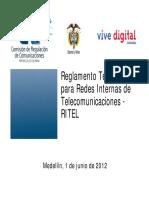Ritel - Reglamento Interno de Instalaciones en Telecomunicaciones