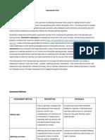 final assessment plan portfolio