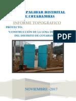 Informe Topográfico Losa Deportiva