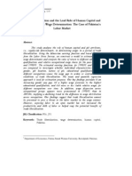 Trade Liberalization and the Lead Role of Human Capital and Job Attributes in Wage Determination