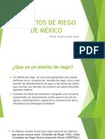 Distritos de Riego de México