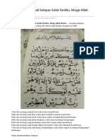 Kebaikan Baca Ayat 128-129 Surah At-Taubah Selepas Solat Fardhu