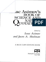 Asimovs Book of Science and Nature Quotations