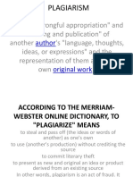 Presentation on Plagiarism