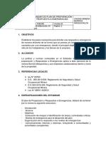 Estandar de Plan de Preparación y Respuesta a Emergencias