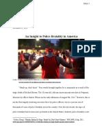 writing 1e- police brutality