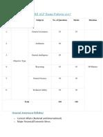 RRB ALP Exam Pattern 2017