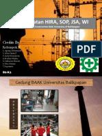 Pembuatan HIRA, JSA, SOP Dalam Konstruksi