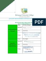 03 Mandatory Procedures Manual