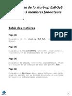 FR - Ex0-SyS - Biographies - La Société (Ex0-SyS), Roland (CEO), Julian (CRÉATEUR), Matthias (DEV)