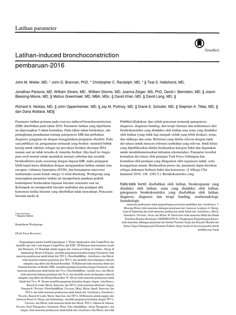 Translated copy of Exercise induced bronchoconstriction