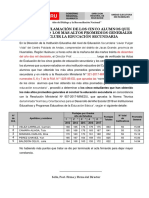 Acta y Certificación de Los 05 Primeros Puestos 2018 - Ugel Huamalíes