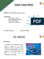 Exposicion Agua y Sus Tipos