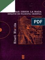 Kitarô Nishida - Pensar desde la nada.pdf