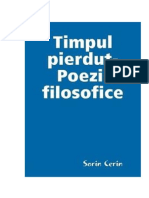 Timpul pierdut-Poezii filosofice de Sorin Cerin (Romanian edition)