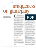 Anderson 2015 the Uniqueness of Gameplay Article for ETP-1
