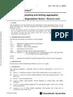 93971057 as 1141 25-1-2003 Methods for Sampling and Testing Aggregates Degradation Factor Source Rock