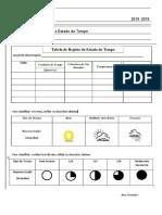 Tabela registo clima