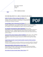 AFRICOM Related News Clips October 18, 2010