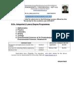 M.sc. Integrated 16-17