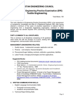 Curriculum of Textile Enginering