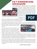 ARTICULO DEBERES Y DERECHOS DEL ESTUDIANTE 10°03