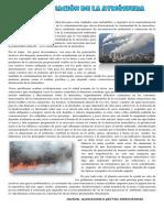 La Contaminacion de La Atmosfera