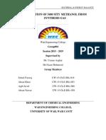 Matrial Balance Report